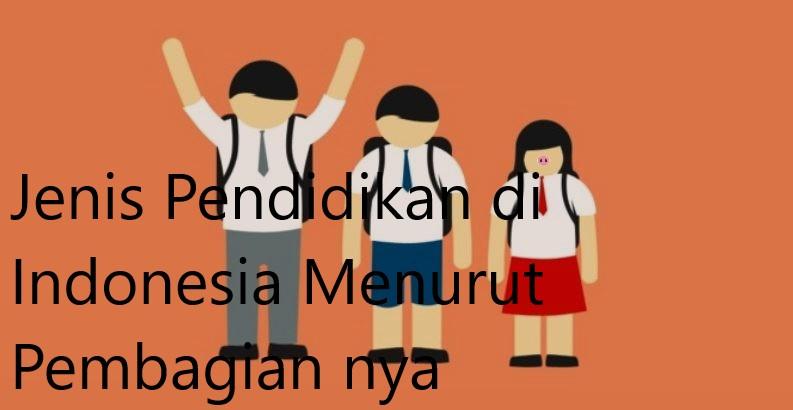 Jenis Pendidikan di Indonesia Menurut Pembagian nya